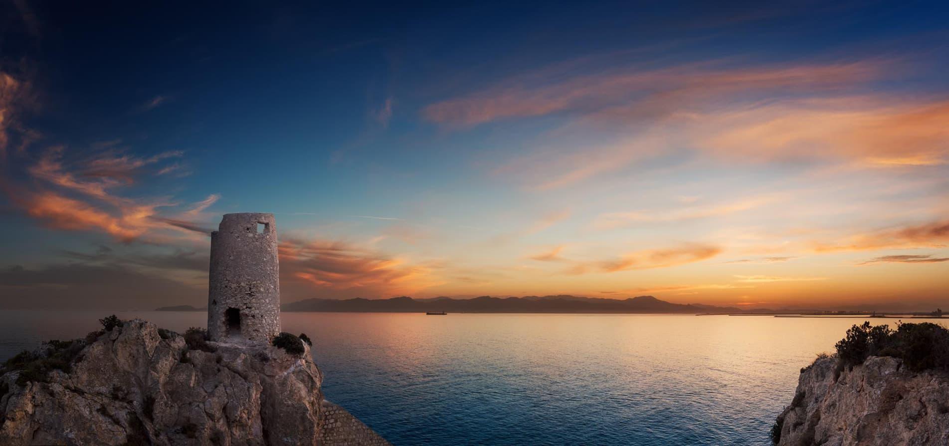 Tramonto sul mare in Sardegna